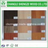 Strato rivestito UV del MDF di colore di legno resistente all'uso del grano