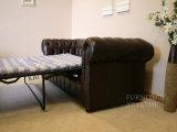Schwarzes Belüftung-modernes Arm-Ausgangsmöbel-Sofa-Bett