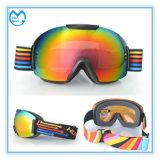 PC weerspiegelt Geen Beschermende brillen van de Sneeuw van de Helm van Snowboarding van de Bijziendheid