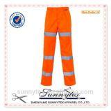 Soem-preiswerte Großhandelsarbeitskleidung Hallo-Kräfte reflektierende schützende Multipockets Sicherheits-Hosen