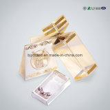 Caixa cosmética luxuosa do empacotamento plástico com inserção cortada
