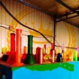 El vidrio de cristal del cenicero del arte del color del reciclador del tabaco del fabricante de la corona del color de rosa alto del tazón de fuente transmite el tubo de agua de cristal de la burbuja embriagadora del cubilete