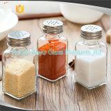 Bouteille en verre pour l'épice d'assaisonnement de poivre de sel, bouteilles de condiment de barbecue de poivre de sel de dispositifs trembleurs