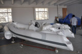Bateau gonflable de côte de PVC de vente chaude de Liya 12.5ft petit à vendre