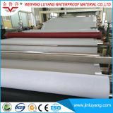 membrane imperméable à l'eau de PVC renforcée par polyester de 2.0mm, membrane imperméable à l'eau de polymère élevé pour le jardin de toit