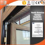 Fenêtre de profilé en aluminium grain 3D Zebra Wood, fenêtre de store et fenêtre extérieure