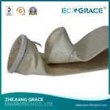 Sacchetto di polvere del tessuto filtrante del poliestere per metallurgia dell'acciaio e del ferro