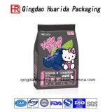 Sacchetto di plastica dell'alimento per animali domestici del sacchetto dell'alimento di cane della parte inferiore piana con la chiusura lampo