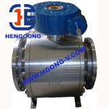 API/ANSI/DIN Flange Trunnion Mounted Electric Cast Steel Ball Valve