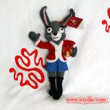 Заполненный плюшем кролик рождества