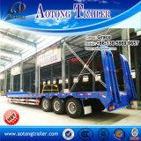 3つの車軸低いベッドのトレーラーのLowbedの頑丈な半トレーラー、30トンから販売のための低いローダーのトラックのトレーラー60トンの