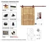 Ferragem & interior de madeira de aço deslizantes modernos da porta de celeiro que deslizam jogos do sistema da porta da divisória