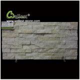 Pierre beige de culture de placage de pierre de mur empilée par Ledgestone de quartzite