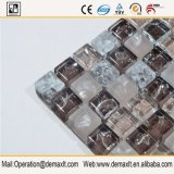 Mosaico de cristal inoxidable de plata