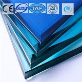 Color del azul de océano/vidrio de flotador plano teñido/claro para el edificio/la decoración