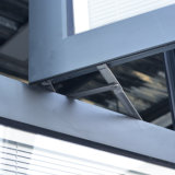 Kz023 고품질 새로운 디자인 회색 색깔 알루미늄 단면도 여닫이 창 Windows
