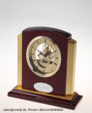 Luxury gold Beautiful Business Wooden Desk Clock K8027g