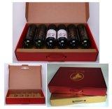Het Vakje van de Wijn van het Karton van het document (sm-B184)