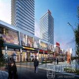 Representación arquitectónica residencial de alta resolución de la visualización del diseño 3D