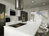 Pierre conçue à haute densité blanche pure de quartz pour la cuisine