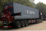 3 asse Side Loader Semi Trailer per Two 20ft Container