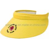 100%年のポリエステル通気性のファブリックゴルフ日曜日バイザーの帽子(TRNV096)