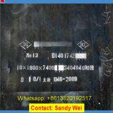 Placa elevada do manganês do Sell Mn13 X120mn12 DIN1.3401 de China a melhor para o forro da máquina de sopro do tiro