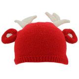 Sombrero lindo de encargo de la gorrita tejida del invierno de la Navidad de los cabritos