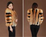 2014 abrigos de pieles genuinos Media-Largos del Fox de las mujeres calientes del invierno