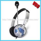 2014 China la nueva Diseñado para auriculares Computer Cómodo Flexible con Rotary Mic