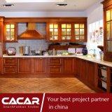 Parole dell'armadio da cucina contratto fiore di legno solido della ciliegia (CA09-09)