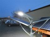 リチウムイオン電池との7-8mポーランド人のための1つの30W LEDの太陽街灯のすべては含んでいた