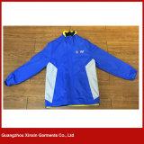 工場はカスタム設計する1つのウインドブレイカーのジャケット(J137)の方法良質の青3を