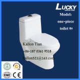 Suelo - tocador de una sola pieza montado en mercancías sanitarias del cuarto de baño