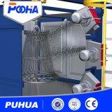 Máquina de anzuelo del chorreo con granalla de la rueda con los bastidores de la limpieza