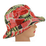 Custom Watermelon Printing Wide Brim Sun Protection Hat