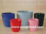 Розовый керамический Flowerpot Gyp064