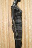 Quadratische Muffe strickte Streifen-Erscheinen ankleidet dünn