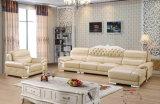 Nuovo sofà di cuoio classico, sofà dell'Europa (A39)
