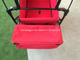 おおいおよびブレーキ車輪が付いている便利なワゴンを折る赤いカラー
