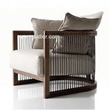 (SD-6005A)現代ホテルのレストランの居間の家具の木のソファーの肘掛け椅子