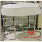 Tabela de chá moderna lateral da tabela de console da mesa de centro da tabela da mobília do hotel da mobília da HOME da mobília do aço inoxidável de tabela de limpeza da mobília da tabela (RS161701)