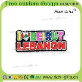PVC冷却装置磁石はカスタマイズした昇進のギフトの記念品レバノン(RC-LB)を