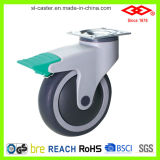 Geräuschloses medizinisches Fußrollen-Rad (P503-34E100X32C)