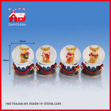 Polyresin Christmas Snow Globe Decoration Water Globe com diodo emissor de luz Lights Papai Noel
