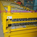 Furchung-Fliese-Dach-Blatt-doppelte Schicht Rolll, das Maschine bildet
