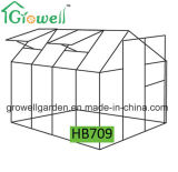 2.1m*2.8m 폴리탄산염과 Alu. 프레임 취미 온실 (HB709)