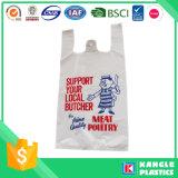Soem-Plastikzoll gedruckter Shirt-Beutel für das Einkaufen