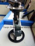 PTFE ausgekleidetes Drosselventil der Oblate-Pn16 mit Griff JIS10k ANSI150