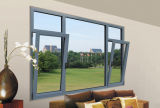 Glazed doble Aluminum Profile Casement Tilt y Turn Window
